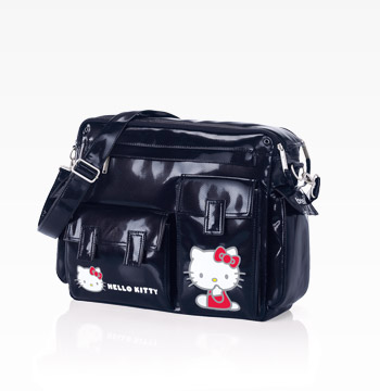 Bolso Cambiador Brevi Hello Kitty Freestyle Marino