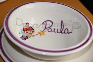 Vajilla Infantil Ceramica PERSONALIZABLE 5 Piezas DUENDE