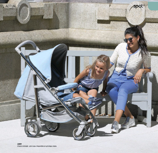 Silla de Paseo Bebecar Spot Plus tejido Actual (Capota Polipiel)