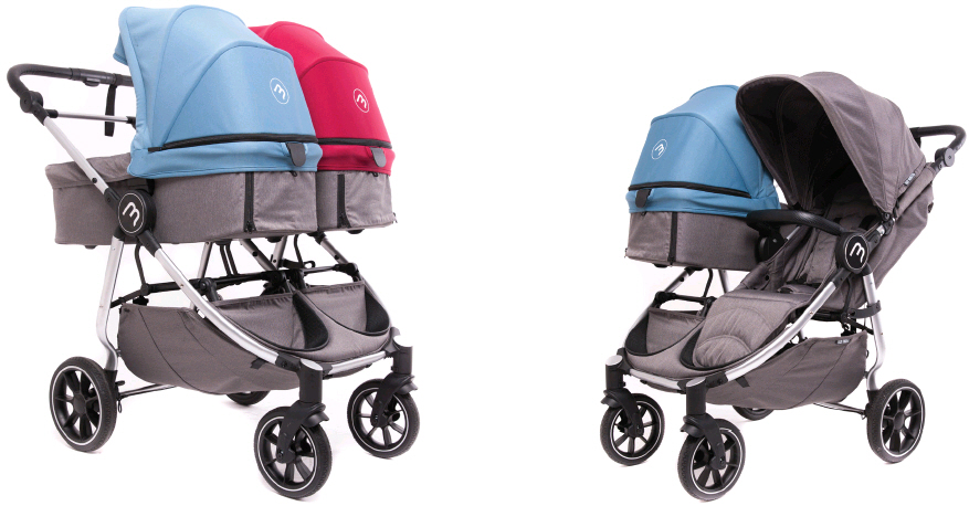 carro gemelar baby monster easy twin 4