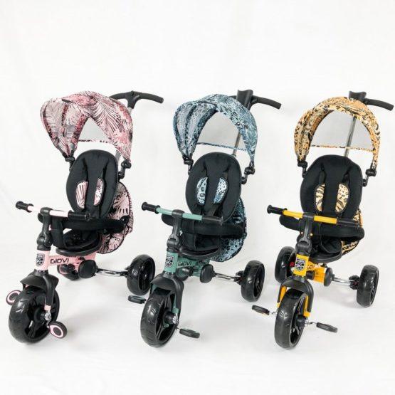 Triciclo KikkaBoo Giovi Evolutivo 3 en 1 Plegable